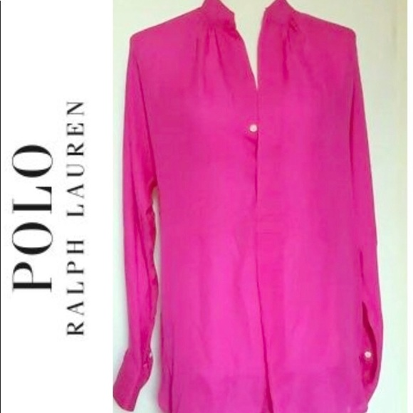 c2e369f8ac9 POLO RALPH LAUREN Silk shirt Dress! M 5c86efa745c8b3c2641ec9fe